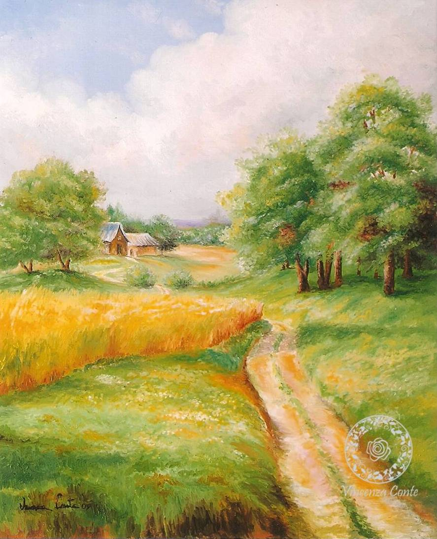 Paesaggi salentini , paesaggi dipinti