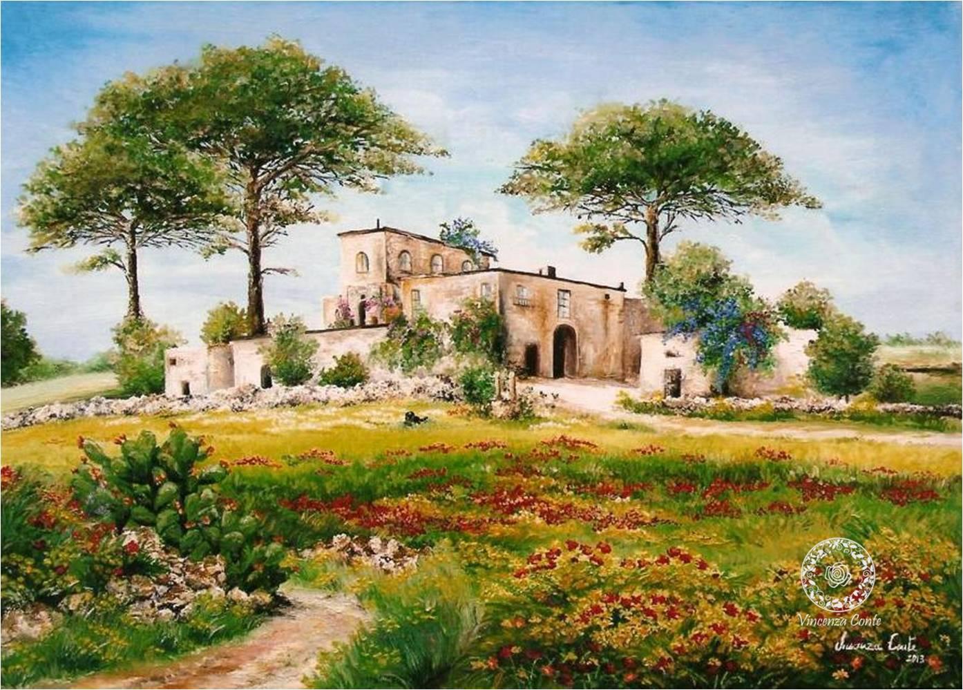 Galleria di quadri e dipinti ad olio su tela on line di for Quadri dipinti a mano paesaggi