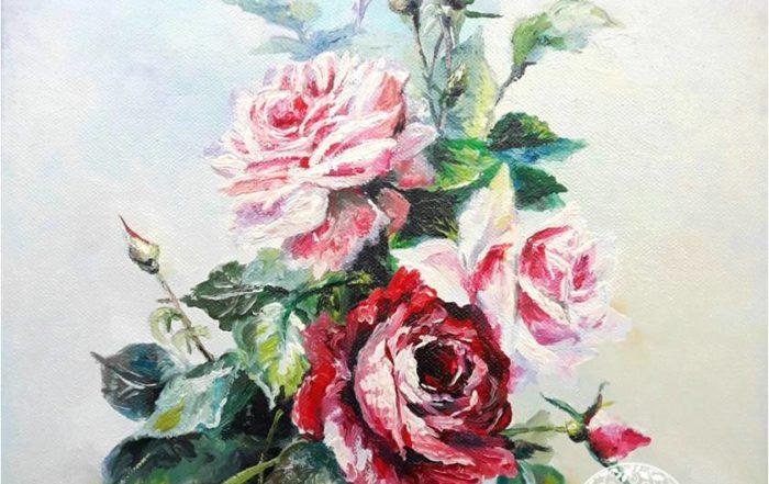 Fiori dipinti ad olio