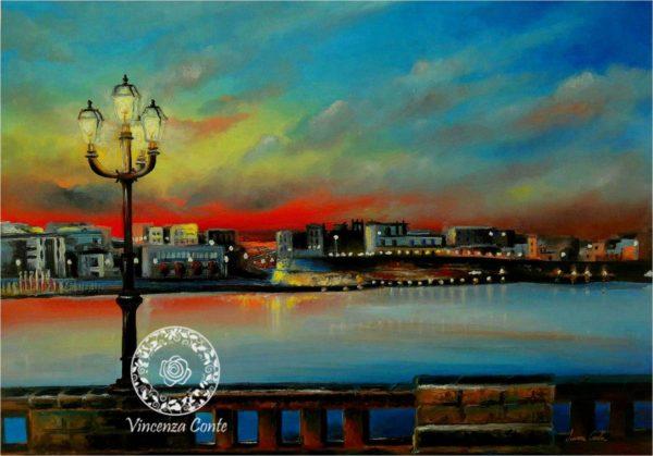 Otranto tramonto, paesaggio salentino