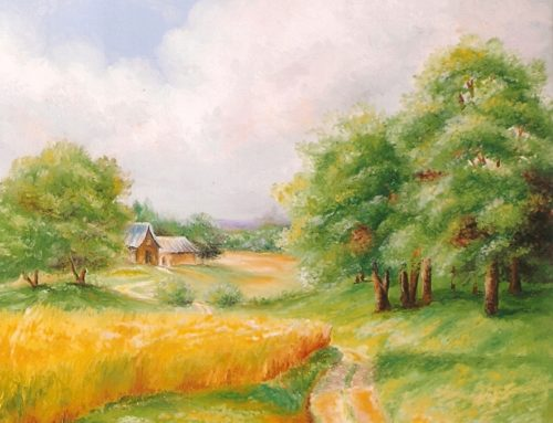 Paesaggio estivo dipinto