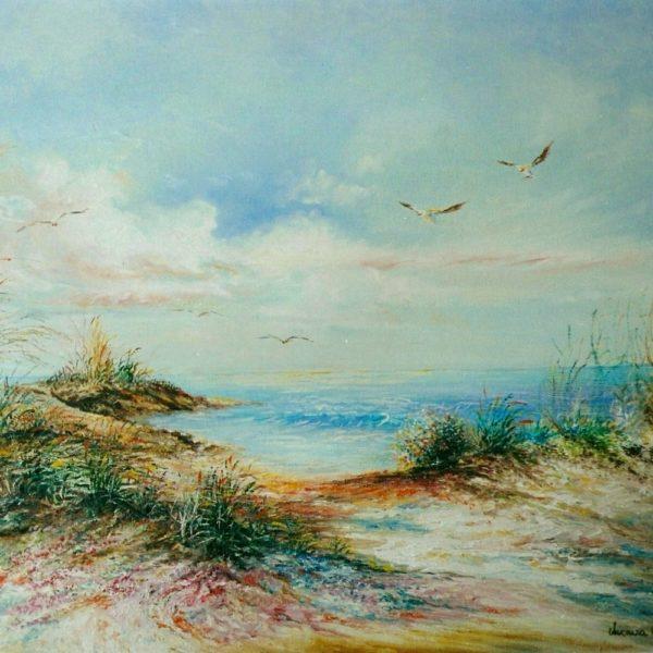 Paesaggio marino dipinto